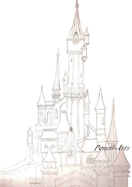 Disneyland croquis en folie - Chateau disney dessin ...