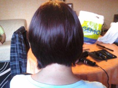 carré plongeant legerement degradé a l'arriere - mes models de coiffure