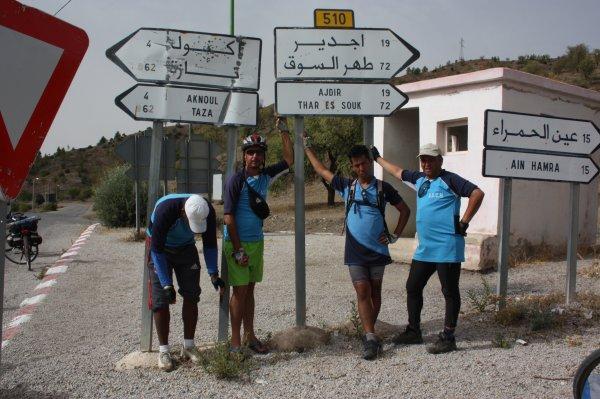 ASCM.la sortie vers La mer M�diterran�e ...Fes + Tissa + Taounate + Jbel Bouadel + Issaguen +  ktama + El jebha & El Houceima. +de 300 km du 30 juillet � 3 Aout 2014.