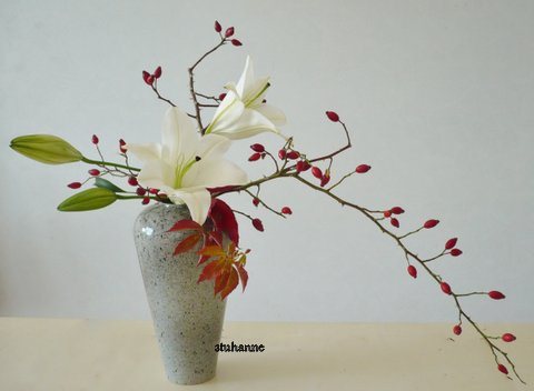 Ikebana Style Nageire Art Floral Bouquets Et
