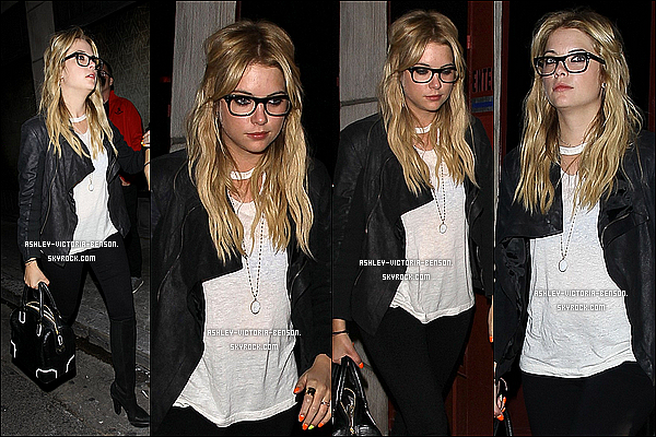 . Dans la soir�e du 9 mai 2013, Ashley avait �t� vue quittant le le �  Sayers Club �  � Los Angeles. BOF !    .