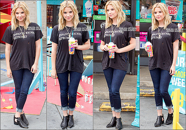 """ Le 19 mai 2013, Ashley a �t� aper�ue quittant le cin�ma ArcLight � Hollywood en Californie.  """