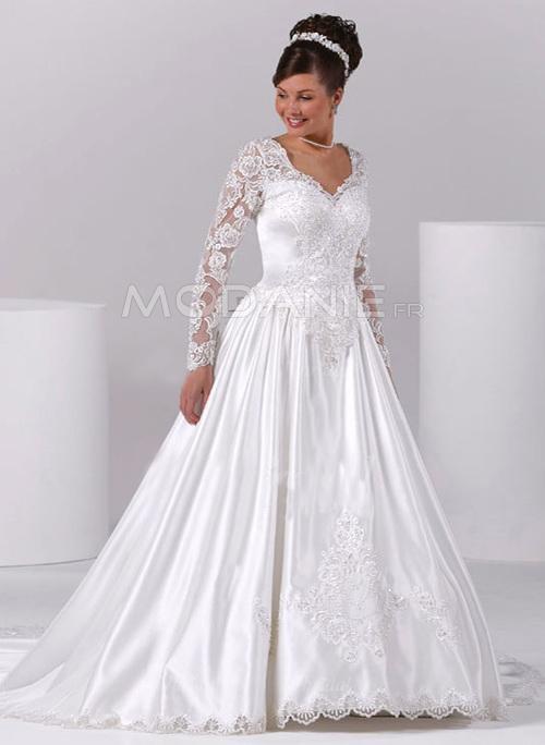 Robe de mari e grande taille 2015 pour les rondes modanie for Robes de taille plus blanc pour le mariage