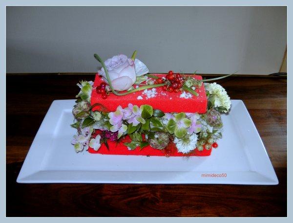 Dernier atelier floral avec Franie (r�alisation d'un mille feuille)