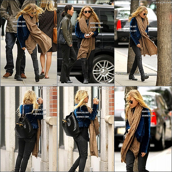 . 09/04/2012 : Mary-Kate Olsen �tait dans les rues du quartier de Soho dans New-York City. .