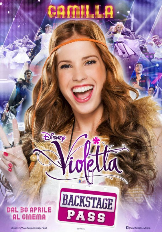 les affiche pour le film violetta en concert s rie violetta. Black Bedroom Furniture Sets. Home Design Ideas