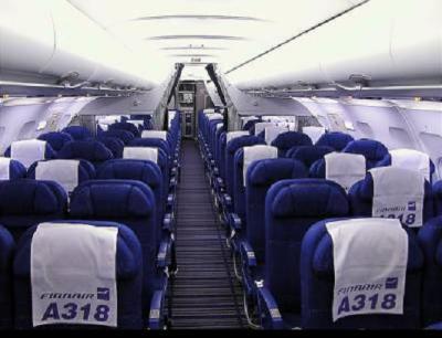 L 39 interieur d 39 un airbus 318 les g ants du ciel for L interieur d un avion