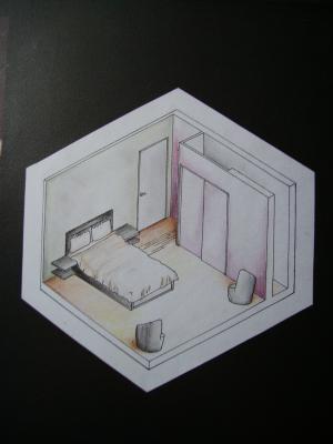 L 39 appartement la chambre plan un monde de dessin for Chambre de mise en charge