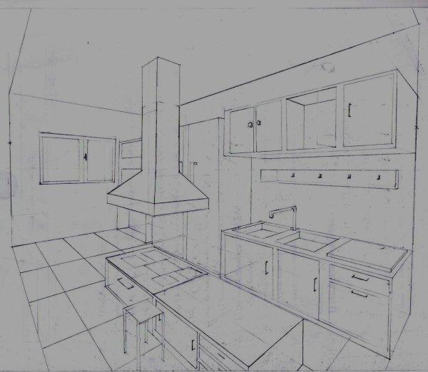 Perspective cuisine architecture et perspective for Cuisine en perspective