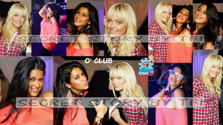 Ayem et Caroline au O'Club  le 23 mars