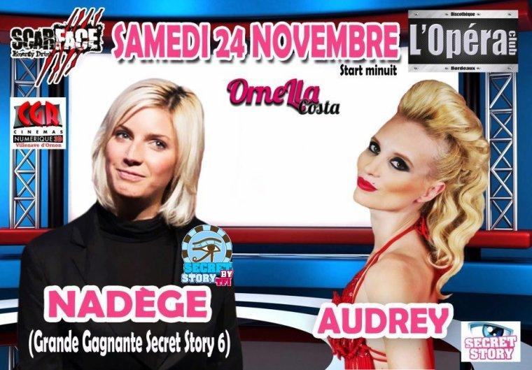 Nad�ge et Audrey � l'Op�ra Club de Bordeaux le 24 novembre