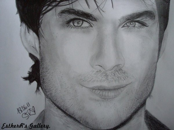 Comment dessiner ian somerhalder - Vampire diaries dessin ...