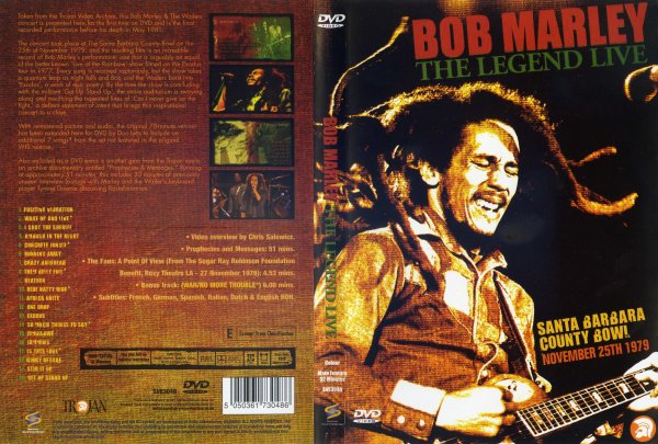 CONCERT : BOB MARLEY - The Legend  Live - Santa Barbara County Bowl (1979)