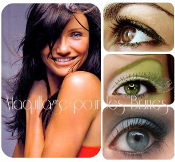 Make up article la demande maquillage pour les brunes aux yeux ve - Maquillage pour brune ...