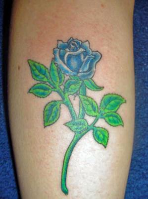 Tatoo rose bleu tatouages tatoo le plus gros skyblog de - Tatouage rose bleu ...