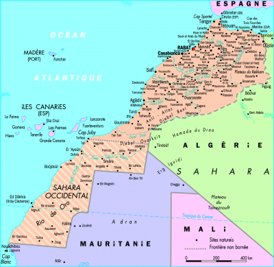 O� se trouve le Sahara Occidental ?