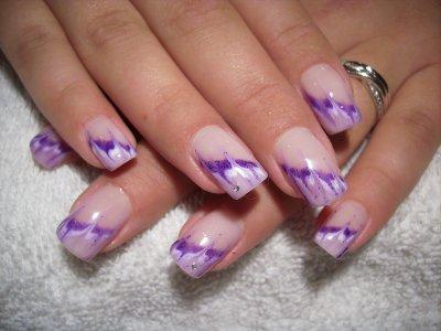 French au couleur lila violet pour m lanie onglerie 39 a - Photos d ongles decores ...
