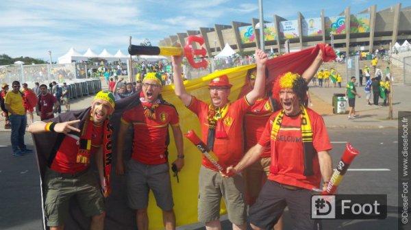 Belgique - Alg�rie ambiance hors et dans le stade