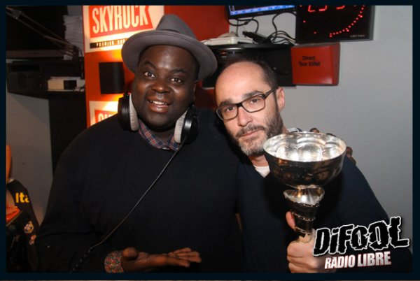 Romano en compagnie d'Issa Doumbia apr�s sa victoire au Clash De La Drague