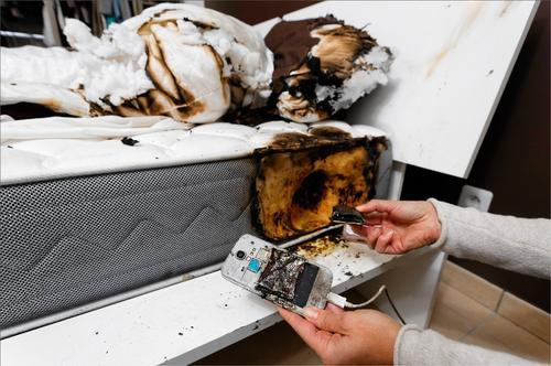 Lit incendi� � cause d'un smartphone !