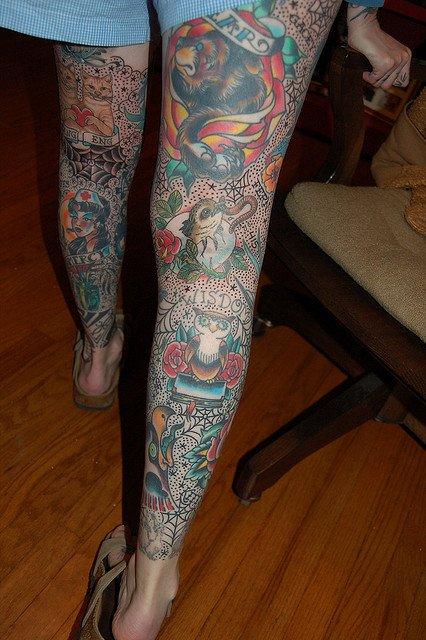 Des jambes enti�res dessin�es ..