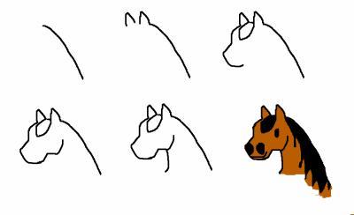Comment dessiner un cheval mon blog donc celui de - Cheval a dessiner facile ...