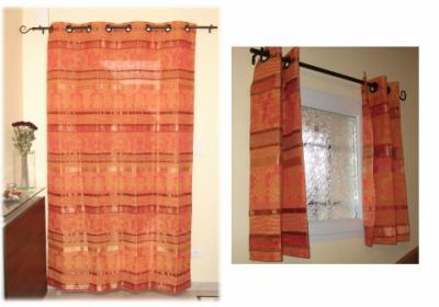 Doubles rideaux des lys de styles for Rideau de porte d entree isolant