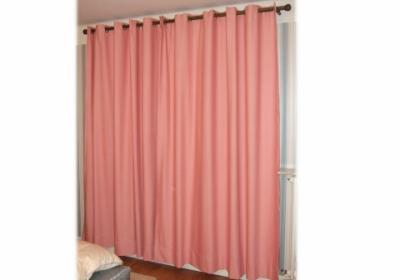 doubles rideaux roses des lys de styles. Black Bedroom Furniture Sets. Home Design Ideas