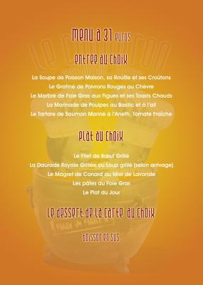 Restaurant Le Chaudron Cassis Menu