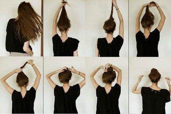 Photo coiffure facile cheveux mi long