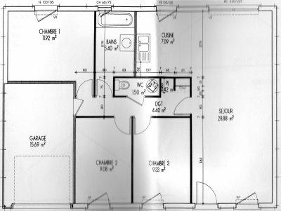 plans maison phenix harmonie 3094 a. Black Bedroom Furniture Sets. Home Design Ideas