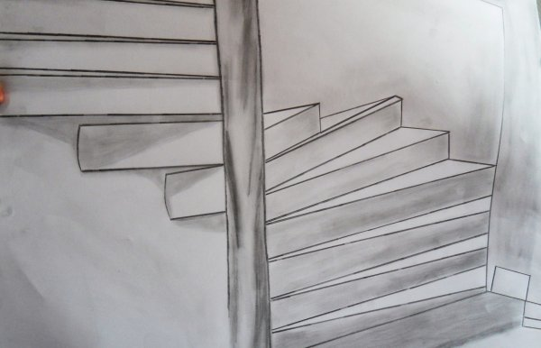 trompe l 39 oeil escalier blog de artistepeintre03. Black Bedroom Furniture Sets. Home Design Ideas