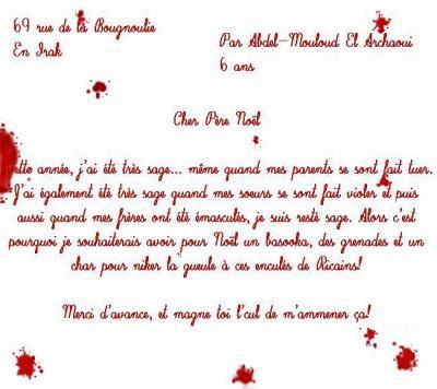 lettre de noel pour sa soeur