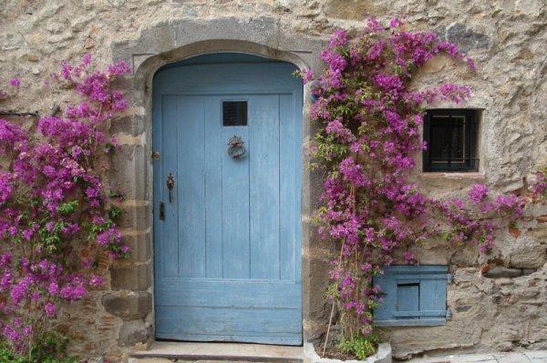 Portes anciennes et fleurs jardin pour tous - Portes interieures anciennes ...