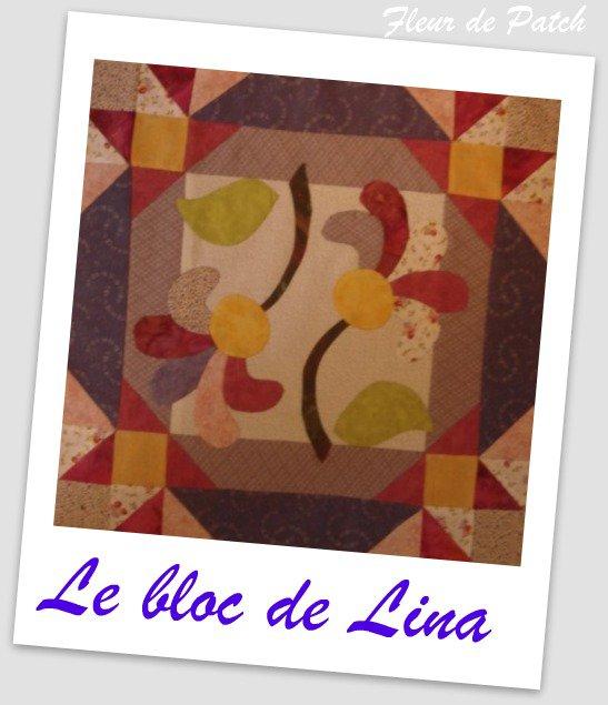 patchwork appliqu le bloc de lina fleur de patch. Black Bedroom Furniture Sets. Home Design Ideas