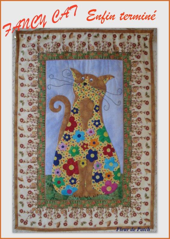 patchwork et applique fancy cat fleur de patch. Black Bedroom Furniture Sets. Home Design Ideas