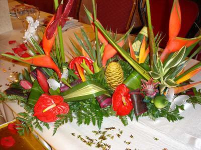 des fleurs bien de chez nous pour un mariage haiti/guadeloupe