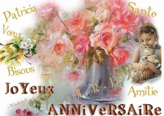 Joyeux Anniversaire Mon Amie Patricia Alrene