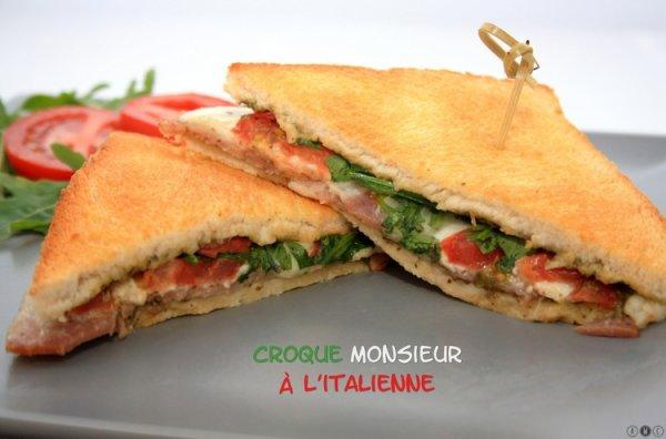 Croque monsieur italien recette sp cial cuisine du monde au paradis des recettes - Recette croque monsieur au four original ...