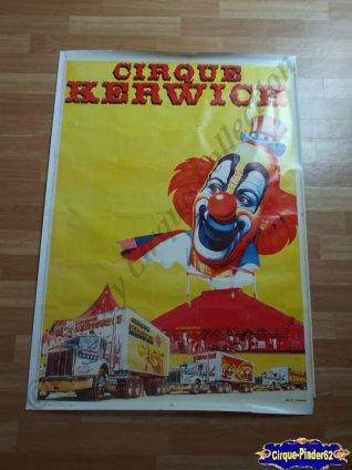 affiche murale du cirque kerwich n 302 cirquepinder62collection. Black Bedroom Furniture Sets. Home Design Ideas