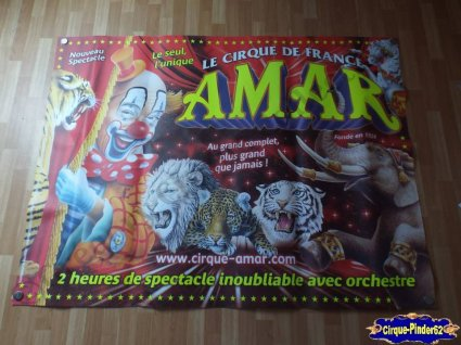 affiche murale du cirque amar n 369 cirquepinder62collection. Black Bedroom Furniture Sets. Home Design Ideas