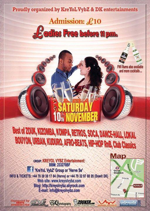 CLUB ZOUK Adulis de retour avec E.SY KENNENGA, SAMEDI 10 NOVEMBRE 2012