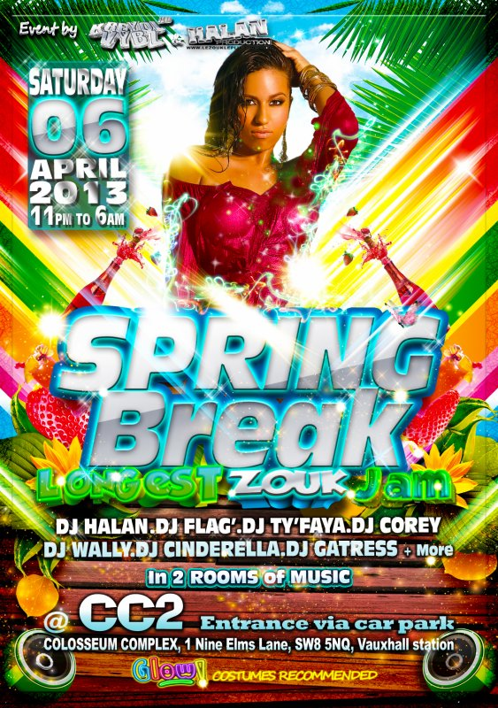 The Best SPRING BREAK ever let's go to THE LONGEST ZOUK JAM 2013 - LE ZOUK LE PLUS LONG a Londres