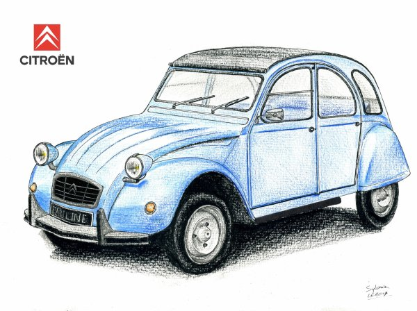 comment dessiner une 2cv. Black Bedroom Furniture Sets. Home Design Ideas