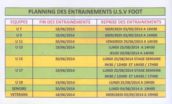 INFOS DE FIN DE SAISON 2013 - 2014 POUR RENOUVELLEMENTS ET NOUVEAUX JOUEURS