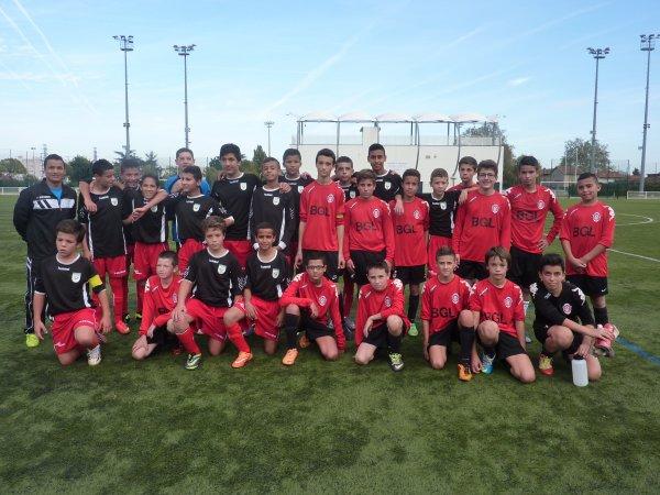 Une belle victoire pour les U15 B