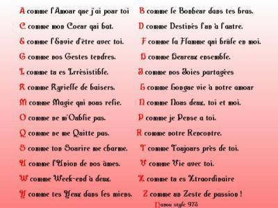 Lettre de l 39 alphabet pour dire tt mon amour pour toi myriam bienvenu dans mon monde - Lettre saint valentin pour son cheri ...