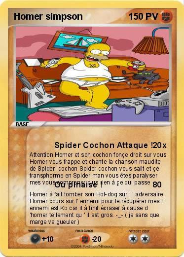 Carte pokemon d 39 homer simpson 2 ilyesdu83 - Carte anniversaire simpson ...