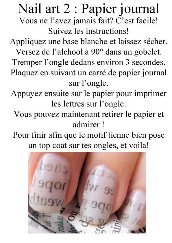 Nail art papier journal ! -
