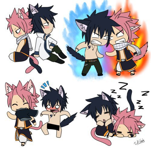 Fairy Tail Natsu And Gray Cute Chibi love - Th...